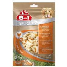 8in1 Delights XS косточка с курицей для мелких собак 21 шт.
