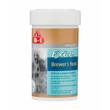 8 in1 Excel Brewers Yeast комплексная пищевая добавка для собак - пивные дрожжи с чесноком - 260 таб.