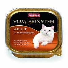 Animonda Консервы Vom Feinsten Adult с куриной печенью для взрослых кошек - 100 гр х 32 шт