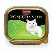 Animonda Консервы Vom Feinsten for castrated cats для кастрированных кошек с отборной индейкой - 100 гр х 32 шт