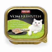 Консервы Animonda Vom Feinsten Adult Меню для гурманов с индейкой, куриной грудкой и травами для взрослых  - 100 гр х 32 шт