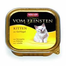 Animonda Консервы Vom Feinsten Kitten с домашней птицей для котят - 100 гр х 32 шт
