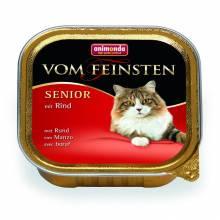 Animonda Консервы Vom Feinsten Senior с говядиной для кошек старше 7 лет - 100 гр х 32 шт