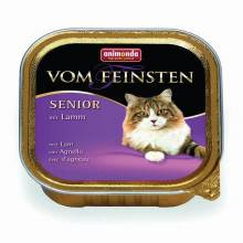 Animonda Консервы Vom Feinsten Senior с ягненком для кошек старше 7 лет - 100 гр х 32 шт