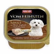 Консервы Animonda Vom Feinsten Adult Меню для гурманов с говядиной, йогуртом и овсяными хлопьями для взрослых привередливых собак - 0,15 кг х 32 шт
