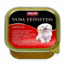 Animonda Vom Feinsten Adult / Анимонда Вомфейнштейн Эдалт для собак с говядиной и сердцем индейки - 150 гр х 22 шт
