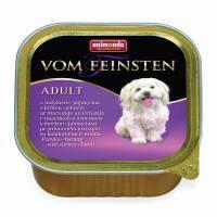 Animonda Vom Feinsten Adult / Анимонда Вомфейнштейн Эдалт для собак с индейкой и ягненком - 150 гр х 22 шт