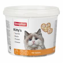Beaphar Kitty`s Mix витаминизированное лакомство-сердечки для кошек с таурином, биотином, протеином и сыром - 750 таблеток