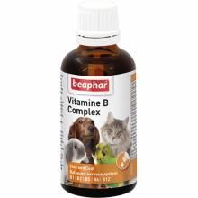 Комплекс витаминов группы В Beaphar Vitamine-B-Komplex для кошек, собак и птиц - 50 мл