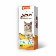 Unitabs SterilCat витаминная паста для стерилизованных кошек для профилактики МКБ - 120 мл