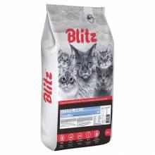 Blitz Sterilised Cats сухой корм для стерилизованных взрослых кошек с индейкой - 10 кг
