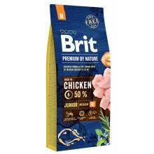 Brit Premium by Nature Junior M сухой корм для молодых собак средних пород (2-12 мес) 3 кг (15 кг)