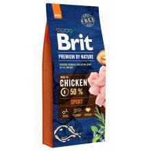 Brit Premium by Nature Sport сухой корм для рабочих или охраняющих, охотничьих и работающих в упряжке собак 3 кг (15 кг) (18 кг)