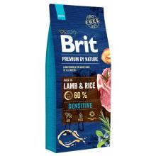Brit premium by Nature Sensitive сухой корм для собак с чувствительным пищеварение с ягненком и рисом 3 кг (8 кг) (15 кг) (18 кг)