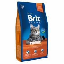Brit Premium Cat Indoor сухой корм для кошек домашнего содержания - 1,5 кг (8 кг)