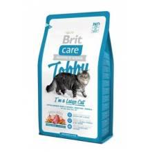 Brit Care Cat Tobby сухой корм гипоаллергенный беззерновой корм с уткой и курицей для взрослых кошек крупных пород 2 кг (7 кг)