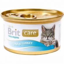Консервы для взрослых кошек Brit care Tuna & Turke с тунцом и индейкой 48 шт х 80 гр