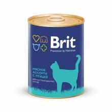 Brit Premium Beef and Chicken Medley для кастрированных котов мясное ассорти с птицей - 0,34 кг х 12 шт