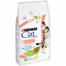 Purina Cat Chow Adult Sensitive сухой корм для кошек с чувствительным пищеварением с лососем и домашней птицей 1,5 кг (7 кг),  (15 кг)
