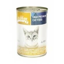 Chicopee Cat Chunks with Chicken консервы с кусочками курицы в соусе для кошек любого возраста - 400 гр (400 г х 24 шт)
