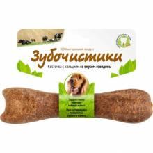 Деревенские лакомства Зубочистики Косточка жевательная для собак средних пород 10-25 кг Говядина 1 шт 95 г