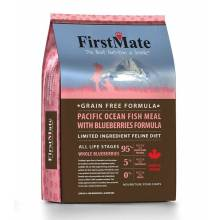 FirstMate Pacific Ocean Fish Meal With Blueberries сухой беззерновой корм для взрослых кошек с рыбой и голубикой 1,8 кг (5,45 кг)