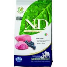 Farmina N&D Grain-Free Canine Lamb & Blueberry Adult Medium беззерновой корм для собак всех пород с ягненком и черникой 2,5 кг (12 кг)