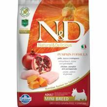 Farmina N&D Dog GF Pumpkin chicken & pomegranate adult mini беззерновой сухой корм с курицей, гранатом и тыквой для взрослых собак мелких пород 0,8 кг (2,5 кг) (10 кг)
