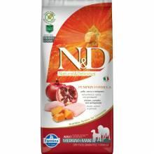 Farmina N&D Dog GF Pumpkin chicken & pomegranate adult medium & maxi беззерновой сухой корм  с курицей, гранатом и тыквой для взрослых собак средних и крупных пород 2,5 кг (12 кг)