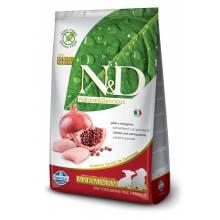 Farmina N&D беззерновой сухой корм для щенков мелких и средних пород с курицей и гранатом 800 гр (7 кг)