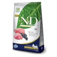 Farmina N&D беззерновой сухой корм для взрослых собак мелких пород с ягненком и черникой 0,8 кг (2,5 кг) (7 кг)