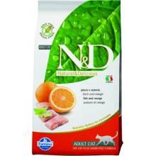 Farmina N&D Grain-Free Feline Fish & Orange Adult сухой корм для кошек с рыбой и апельсином 10 кг