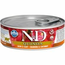 Farmina N&D влажный корм для взрослых кошек с киноа, сельдью и кокосом - 80 г х 12 шт