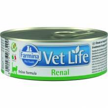 Farmina Vet Life Renal влажный корм для взрослых кошек с заболеваниями почек с курицей - 85 г х 12 шт