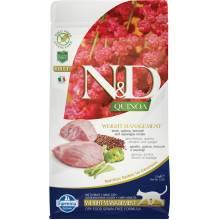 Farmina N&D Cat Grain Free quinoa weight management lamb корм для взрослых кошек контроль веса с ягненком и киноа 1,5 кг