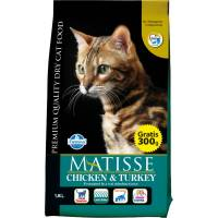Farmina Matisse Chicken & Turkey сухой корм для взрослых кошек с курицей и индейкой 1,5 кг (10 кг) (20 кг)