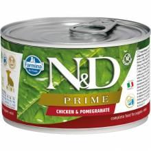 Farmina N&D Prime влажный корм для щенков мелких пород с курицей и гранатом - 140 г х 6 шт