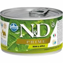 Farmina N&D Prime влажный корм для собак мелких пород с мясом кабана и яблоком - 140 г х 6 шт