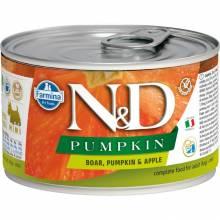 Farmina N&D влажный корм для взрослых собак мелких пород с тыквой, мясом кабана и яблоком - 140 г х 6 шт