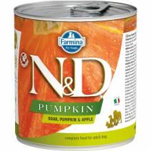 Farmina N&D влажный корм для взрослых собак с тыквой, мясом кабана и яблоком - 285 г х 6 шт