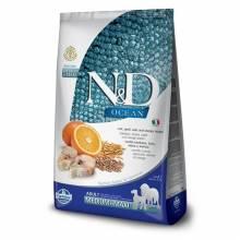 Farmina N&D Ocean сухой корм для взрослых собак средних и крупных пород с треской, овсом, спельтой и апельсином - 12 кг
