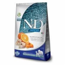 Farmina N&D Ocean сухой корм для взрослых собак средних и крупных пород с треской, тыквой и апельсином - 2,5 кг (12 кг)