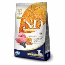 Farmina N&D сухой корм для щенков мелких пород низкозерновой с ягненком и черникой - 7 кг