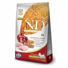 Farmina N&D сухой корм для взрослых собак мелких пород низкозерновой с курицей и гранатом 800 гр (2,5 кг) (7 кг)