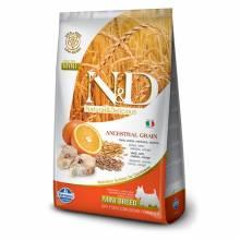Farmina N&D сухой корм для взрослых собак мелких пород низкозерновой с треской и апельсином 800 гр (2,5 кг) (7 кг)