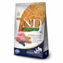Farmina N&D низкозерновой сухой корм со спельтой, овсом, ягненком и черникой для взрослых собак- 2,5 кг (12 кг)