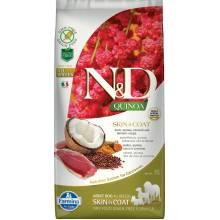 Farmina N&D Dog Grain Free quinoa skin & coat duck корм для собак здоровая кожа и шерсть с уткой и киноа 2,5 кг (7 кг )
