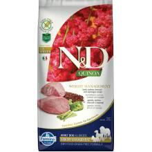 Farmina N&D Dog Grain Free quinoa weight management lamb корм для собак для контроля веса с ягненком и киноа 2,5 кг (7 кг )