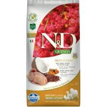 Farmina N&D Dog Grain Free quinoa skin & coat quail корм для собак здоровая кожа и шерсть с перепелом и киноа 2,5 кг ( 7 кг )