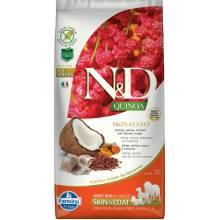 Farmina N&D Dog Grain Free quinoa skin & coat herring корм для собак здоровая кожа и шерсть с сельдью и киноа 2,5 кг (7 кг )